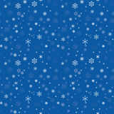 Seamless texture with snowflakes Royalty Free Stock Images