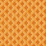 Seamless texture soft waffles. The textured surface of toasted golden brown. Stock Photography
