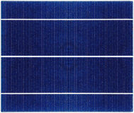 Seamless texture of solar panel close up Royalty Free Stock Images