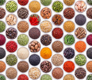 Seamless texture with spices and herbs royalty free stock photos