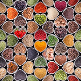 Seamless texture with spices and herbs Royalty Free Stock Image