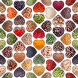 Seamless texture with spices and herbs Stock Images