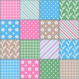 Seamless texture - square patchwork pattern. Stock Images