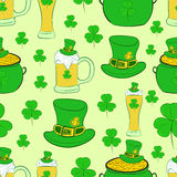 Seamless texture St. Patrick's Day Royalty Free Stock Image