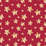 Seamless texture with stars festive on red background vector illustration