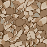 Seamless texture of stone wall. Vector seamless texture of stones in brown colors Royalty Free Stock Images