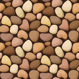 Seamless texture with stones. Seamless background with beige and brown stones Royalty Free Stock Photos