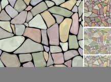 Seamless texture of stonewall in different colors. Background is my creative hand drawing and you can use it for your design and etc., made in vector, Adobe Royalty Free Stock Photos