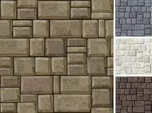 Seamless texture of stonewall in different colors. Royalty Free Stock Photos