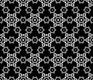 Seamless texture, subtle geometric monochrome pattern, lace illustration Royalty Free Stock Photos