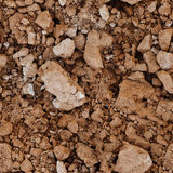 Seamless texture - the surface of the soil Royalty Free Stock Image