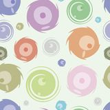 Seamless texture with the surprised transparent. Colourful monsters Royalty Free Stock Images