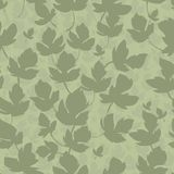 Seamless texture. swampy-green curly leaves Stock Images