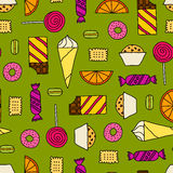 Seamless texture with sweets Stock Image