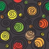 Seamless texture with swirls. Illustration Stock Image