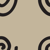 Seamless texture with swirls. Illustration Stock Photography