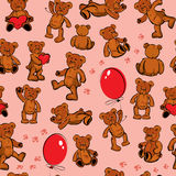 Seamless texture with teddy bears Stock Images