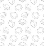 Seamless Texture of Three-dimensional Diamonds Stock Image