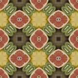 Seamless texture to the dining room tablecloth. Texture coconut. Tropical motif print. Royalty Free Stock Photography
