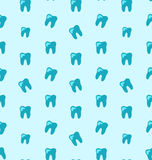 Seamless Texture with Tooth, Health Care Background Stock Images