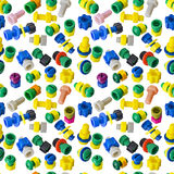 Seamless texture - toy nuts and bolts Stock Photography