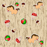 Seamless texture with toys. / Vector illustration eps10 Royalty Free Stock Photo