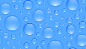 Seamless texture with transparent water droplets. Vector background for your creativity Royalty Free Stock Images