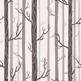 Seamless texture with trees. Patterns on trees, bright colors, illustration stock illustration
