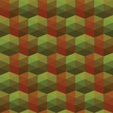 Seamless texture of triangles. illusion hexagon Stock Photo