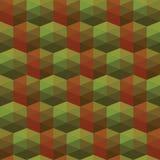 Seamless texture of triangles. illusion hexagon Stock Photo