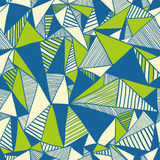 Seamless texture with triangles, mosaic endless pattern. Royalty Free Stock Images