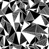 Seamless texture with triangles. Royalty Free Stock Photos