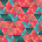Seamless texture with triangles, mosaic endless pattern. That sq Royalty Free Stock Photo