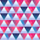 Seamless texture with triangles, mosaic endless pattern. That sq Royalty Free Stock Image