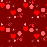 Seamless texture Valentine's Day Royalty Free Stock Photo