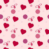 Seamless texture Valentine's Day Royalty Free Stock Photography