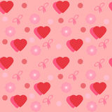 Seamless texture Valentine's Day Stock Photography