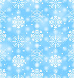 Seamless Texture with Variation Snowflakes Royalty Free Stock Photo