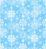 Seamless Texture with Variation Snowflakes Royalty Free Stock Photo