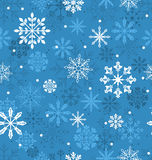 Seamless Texture with Variation Snowflakes Stock Image
