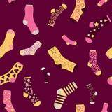 Seamless texture vector background socks Stock Photos