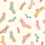 Seamless texture vector background socks Royalty Free Stock Photo