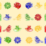 Seamless texture vector christmas decorations vector Royalty Free Stock Photo