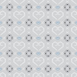 Seamless texture vector pattern heart tile on gray background Stock Image