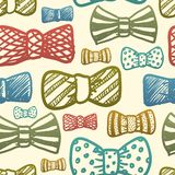 Seamless texture with vintage bows Stock Photo