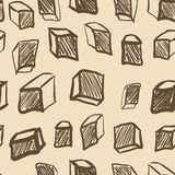 Seamless texture with vintage cubes Stock Photos