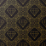 Seamless texture with vintage geometric ornament. Vector thin li Royalty Free Stock Photo