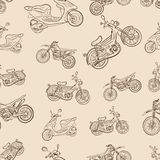 Seamless texture a vintage with mopeds. Seamless vintage texture with mopeds and the scooter Royalty Free Stock Photos