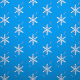 Seamless texture wallpaper snowflake Stock Photography