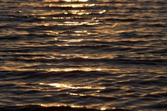 Seamless texture warm color shining sunset water surface Royalty Free Stock Photography